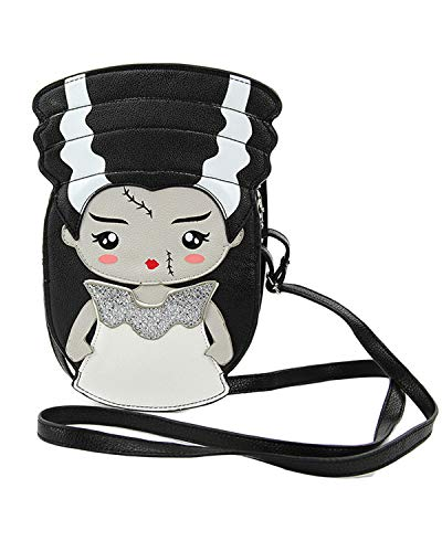 Comeco Sleepyville Critters Halloween Frankenstein Crossbody Bag (Frankenstein's Bride)
