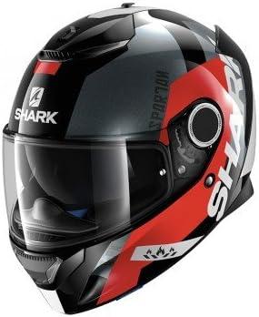 Amazon.es: Shark Casco de moto SPARTAN APICS KRA, Negro/Rojo, L