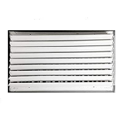 """24""""w x 6""""h Adjustable Diffuser - Vent Duct Cover - Grille Register - Sidewall or Ceiling - High Airflow"""