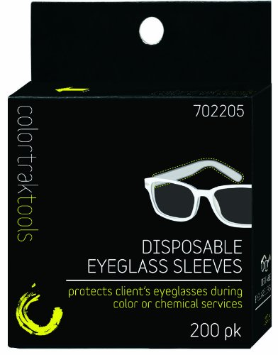 Colortrak 6011 Disposable Eyeglass Sleeves, 200-Count, Black