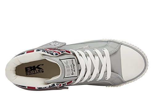 Jack Roco LT Union Knights Blanc Trainers GREY Child 5 Kids' Unisex JACK UK Hi 10 Top UNION British wz4Bqtw