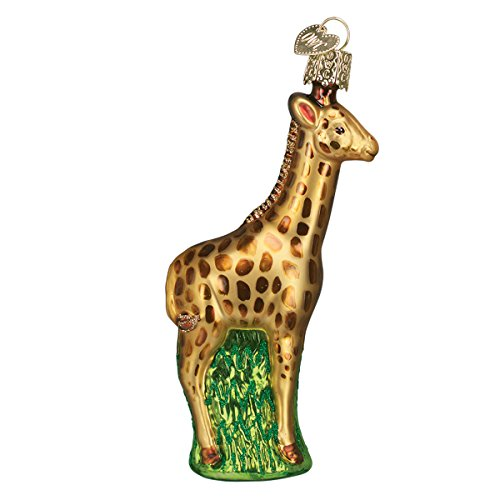 Old World Christmas Zoo and Wildlife Animals Glass Blown Ornaments for Christmas Tree,Baby Giraffe (Ornaments Sale For Handcrafted Christmas)