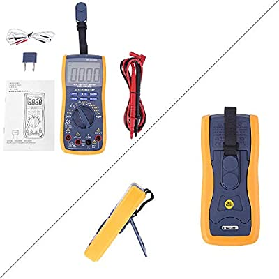 Resistance Digital Multimeter Tester with TRMS 6000 Auto Raging Measures Voltage Tester,Current Continuity Frequency,Transistors Temperature,Diodes Honsene