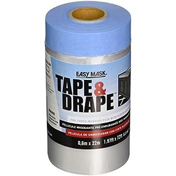 Easy Mask 949460 .6m X 22m Plastic Pre Taped Drop Cloth