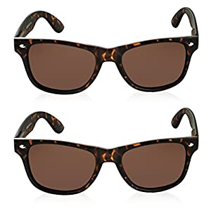 Vintage Sunglasses for Women 2 Pack Tortoise Sunglasses Brown Shades