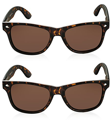 Vintage Sunglasses for Women 2 Pack Tortoise Sunglasses Brown Shades