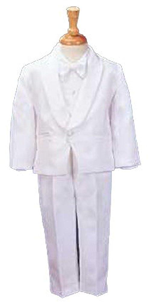 White Single Breasted Tuxedo with Matte Satin Cummerbud.