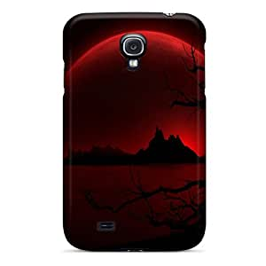 New Premium XHPlANO3183DYfXi Case Cover For Galaxy S4/ Red Moon Protective Case Cover