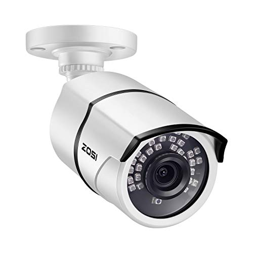 ZOSI 2.0 Megapixel HD 1080P HD-TVI Security Cameras Day Night Waterproof Camera 100ft IR Distance, Aluminum Metal Housing,Only Compatible for HD-TVI Analog DVR White
