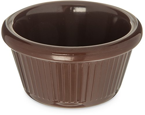 - Carlisle S27969 Melamine Fluted Ramekin, 2 oz. Capacity, Melamine, Chocolate (Case of 48)