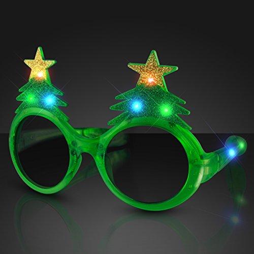 Light Up Sunglasses Bulk (Glitter Christmas Light Up Flashing LED)