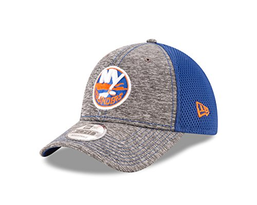 NHL New York Islanders Adult Shadow Turn 9FORTY Adjustable Cap, One Size, Graphite - New York Islanders Visor