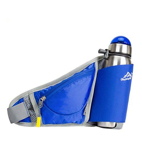 Wmshpeds Ultra-fina ejecución móvil personal fitness fitness stealth satinado bolsa anti-robo de una botella de agua al aire libre exterior pequeños bolsillos D