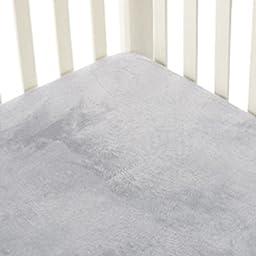 Go Mama Go Designs Grey Minky Crib Sheet, Grey