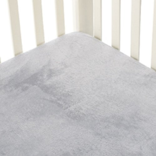 Go Mama Go Designs Grey Minky Crib Sheet, Grey