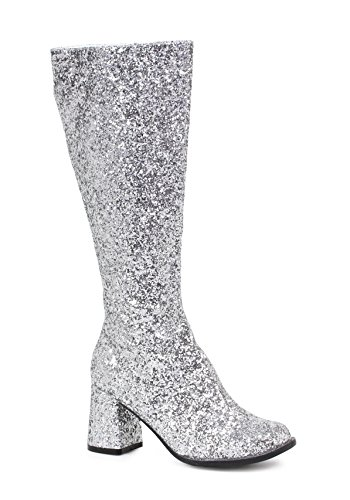 Ellie Shoes Damen Gogo-g Chelsea Boot Silberner Glitter