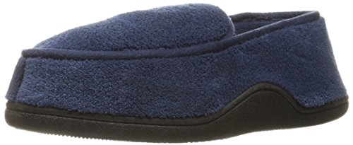 Isotoner Men's Microterry Slip On Slippers, XX-Large, Navy