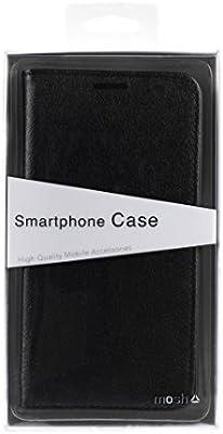 mosh® Lenovo K6 móvil Negro, Mobile Fashion, Piel sintética, de Piel Funda, Case Cover con función Atril, imantadas Flip de diseño: Amazon.es: Electrónica