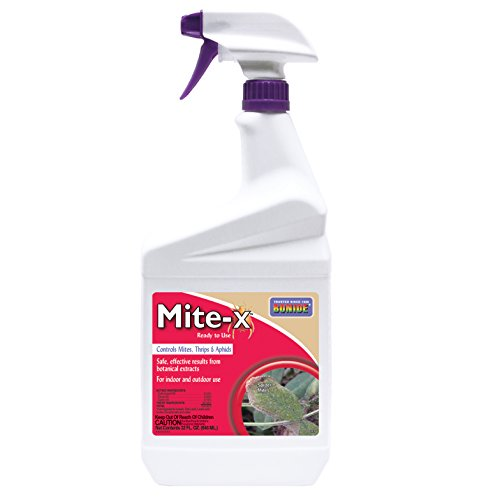Bonide BND285 Mite-x Ready to Use Indoor/Outdoor Bug Insecticide and Pesticide, 32 Oz, Brown/A