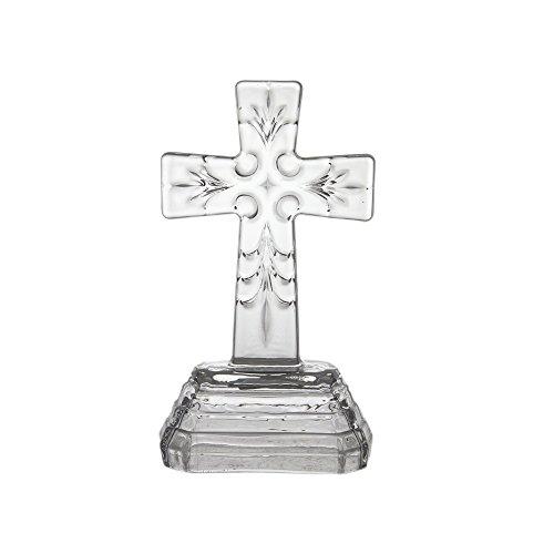 (Mega Favors Religious Keepsake - Medieval Floral Design Glass Cross Favors, Set of 12)