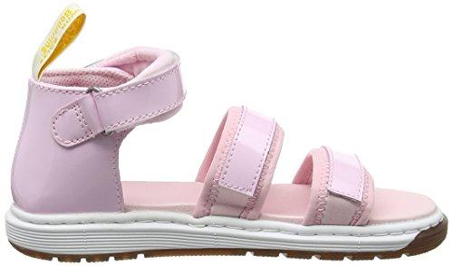 Dr. Martens Unisex-Kinder Marabel J Römersandalen Sandalen Pink (Baby Pink Patent Lamper)