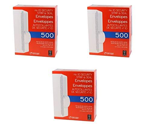 Top Flight no 10 Security Strip nd Seal Envelopes (1500 Envelopes)