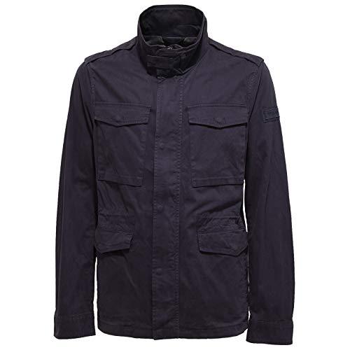 Blu Twill 9771w Giubbotto Dark Uomo Cotton Blue Jacket Men Field Woolrich tZdwvwq