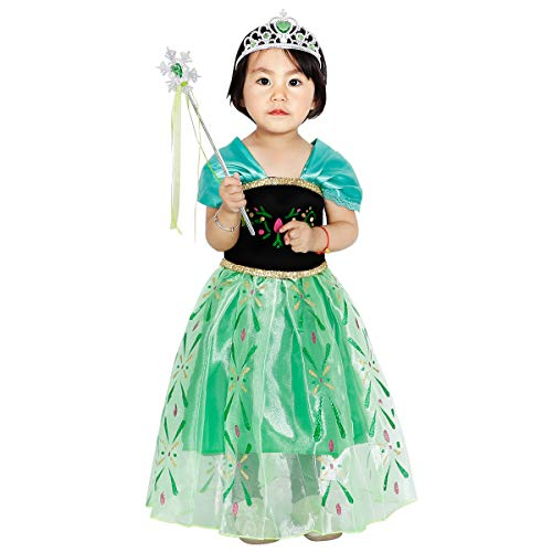 loel Princess Snow Queen Party Costume Dress for 4-5 Years ()