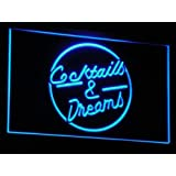 Enseigne Lumineuse i079-b Cocktails & Dream Beer Bar Wine Neon Light Sign