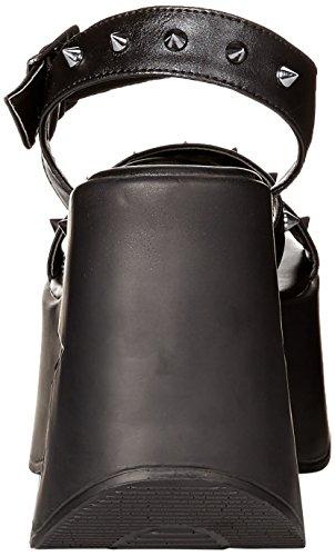 Demonia Womens Dinamite-02 Sandalo Nero Vegan Leather