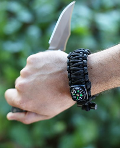 Tactical-Paracord-Bracelet-X-Series-By-AEGIS-GEARS-Ultimate-Emergency-Survival-Kit-Adjustable-Size-Fire-Starter-Compass-Fishing-Kit-Milspec-550-Paracord-More-EDC-Outdoor-Camping-Gear
