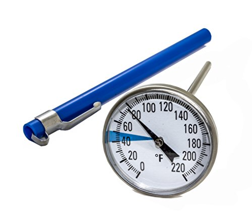 SmartChoice Backyard Compost Stainless Steel Soil Thermometer with 1.5