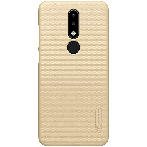 Nokia 5.1 Plus Case,Nokia X5 Back Cover,OPDENK-Nillkin Frosted Matte Shield Hard Cover Skin Shell Case Back Cover + LCD Screen Protector for Nokia 5.1 Plus / X5,Champagne Golden