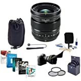 Fujifilm XF 16mm F1.4 R (Weather Resistant) Lens - Bundle with 67mm Filter Kit, Lens Case, Flex Lens Shade, Capleash II, Cleaning Kit, Pc Software Package