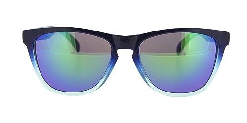 Gafa de sol Bavaro de montura bicolor en negro y en azul semitransparente para chico, chica o unisex...