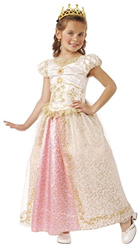 Child's Deluxe Fairy Tale Princess Wedding Costume, Small