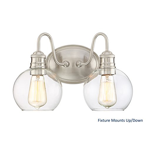 Quoizel Soho 2-Light 9.5-in Brushed nickel Globe Vanity Light ()