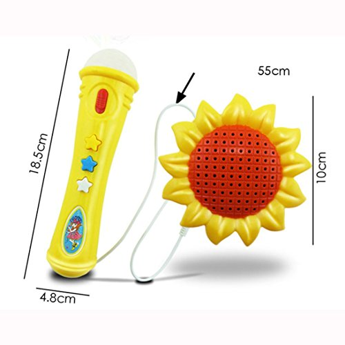 sandistore-sunflower-echo-microphone-mic-voice-changer-toy-gift-birthday-present-kid-party-yellow