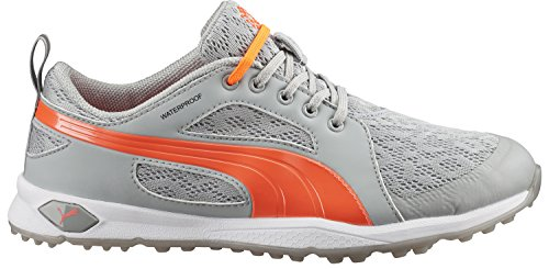 PUMA Women's Biofly Mesh WMNS Golf Shoe, High/Rise/Fluorescent Peach, 8 M US