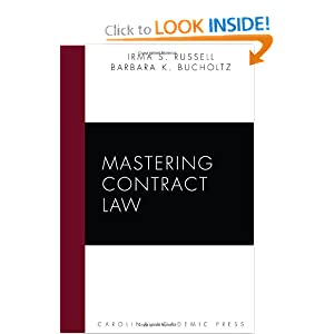 Mastering Contract Law Irma S. Russell and Barbara K. Bucholtz