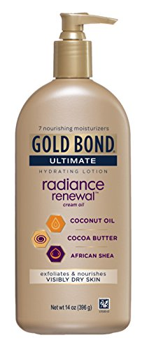Gold Bond Ultimate Radiance Renewal, 14 Ounce Lotion with Coconut Oil, Shea Butter, Cocoa Butter (Butter Shea Night Cream)