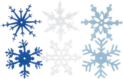 CREATIVE IMPRESSIONS Large Felt Snowflakes 2quot 24/Pkg Winter
