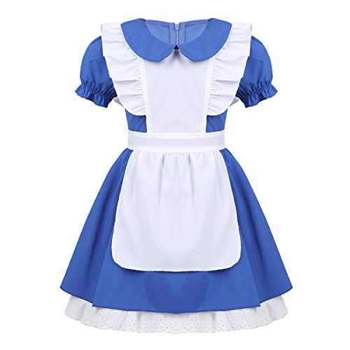 YiZYiF Princess Alice Girls Play Dress Up Toddler Adventure Cotton Apron Halloween Costumes Blue 18-24 Months
