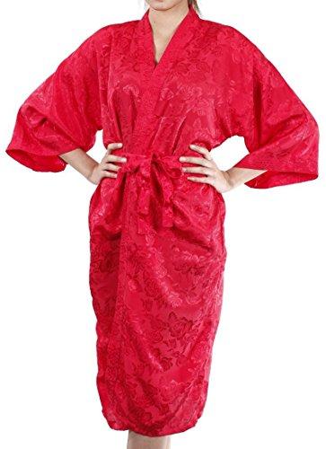 Lofbaz Mujer Bata de baño que cubre como una toalla, cómoda Design #12 Rojo
