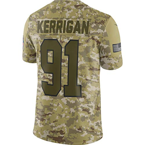 Ray.eto Mens Ryan_Kerrigan_91_Camo_Salute Fans Replica Jersey Sportswear Custom Football Game Limited Elite Legend Jerseys (Ryan Replica Jersey)