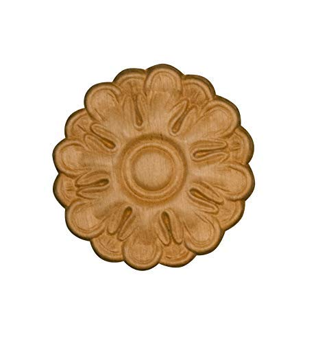 (Embossed Wood Decorative Rosette Ornament in Knotty Pine- 3