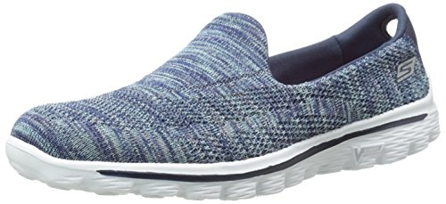 Skechers Performance Women's Go Walk 2 Hypo Walking Shoe,Navy,7 M US (Shoes To Wear With Light Blue Jeans)