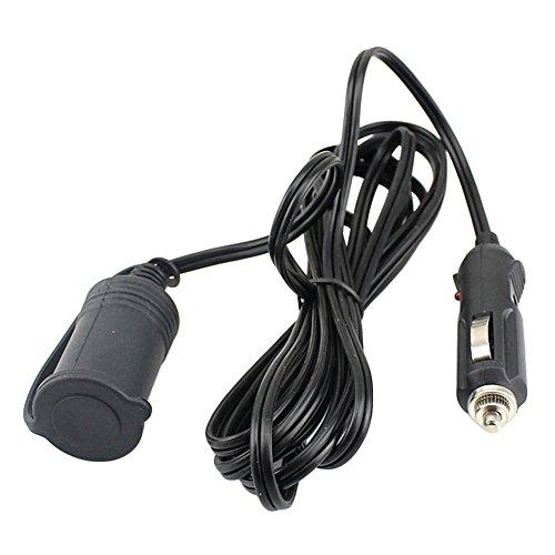 Starlit - Cable alargador de mechero de coche (3 m), Negro, Una talla