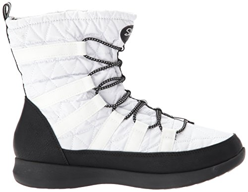 Skechers Botas para Blanco Negro Mujer Boulder qRC7qB