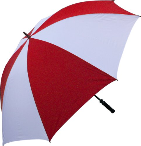 RainStoppers 68-Inch Oversize Windproof Golf Umbrella (Red and White)